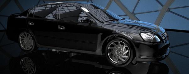 Car black wide
