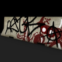 Jerseybarrier graffiti cover