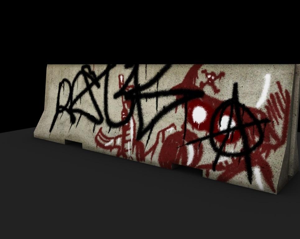Jerseybarrier graffiti show