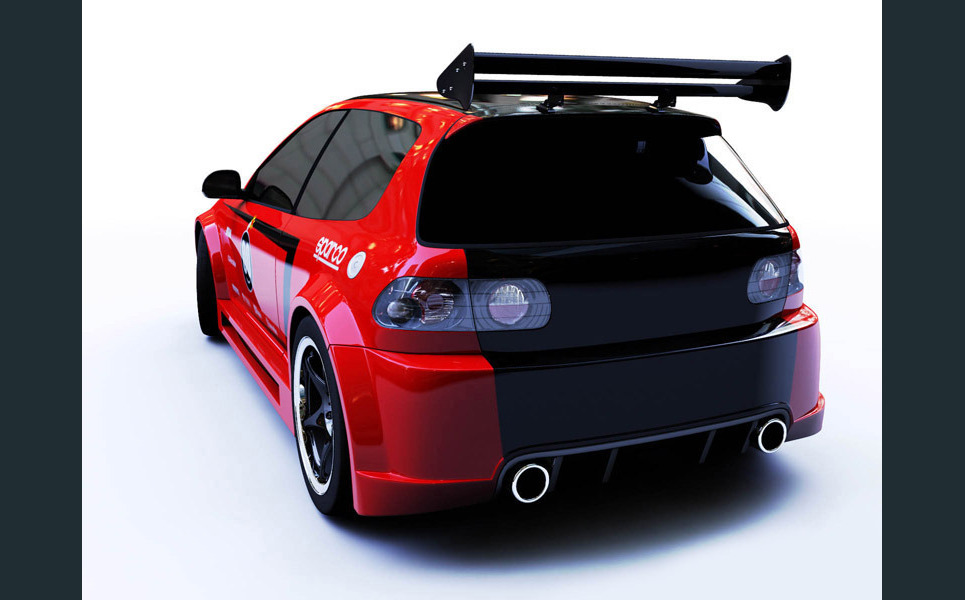 Honda rear 800 show