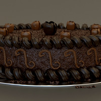 Milk chocolate cake cover