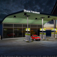 Petrol pump at night cover