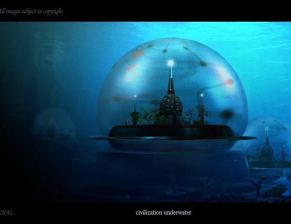 Under water2 city show