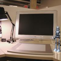 Robot desk cover