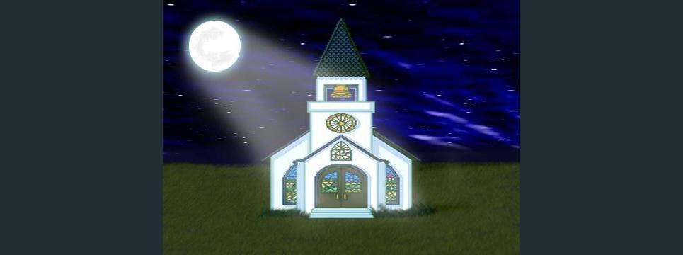 Church at night show