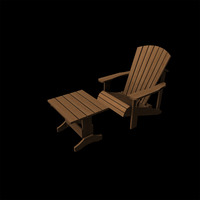 Adirondack chair and table cover