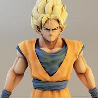 3d goku model closeup cover