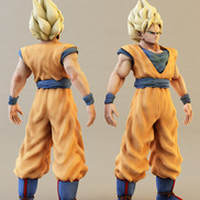 3d goku model color small