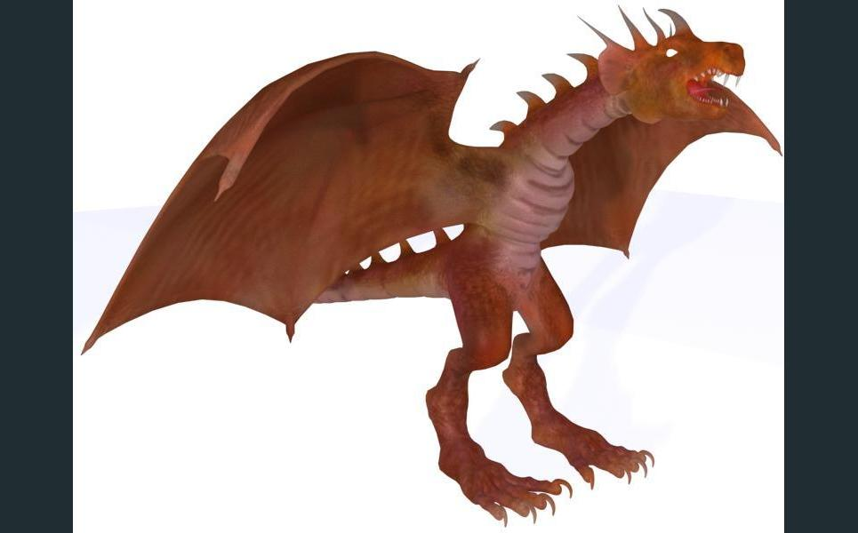 Dragon render with max show
