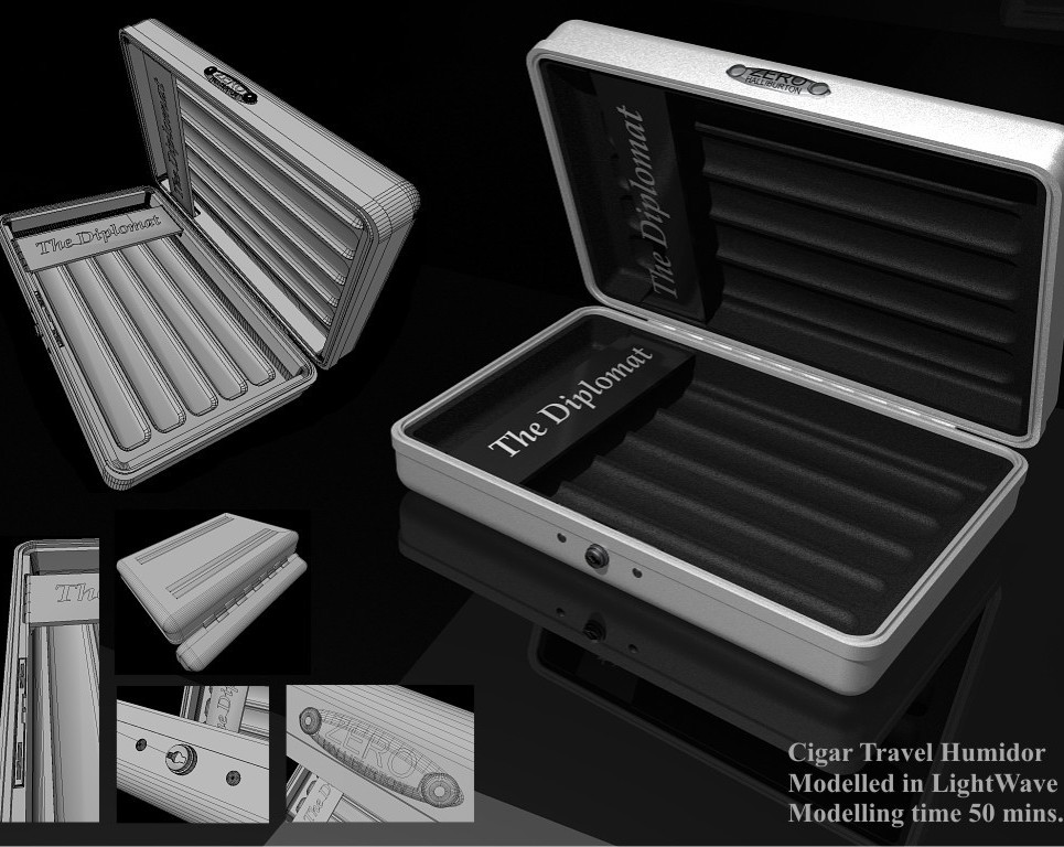 Cigar travel humidor. speed modelling challenge   031   is it safe  show