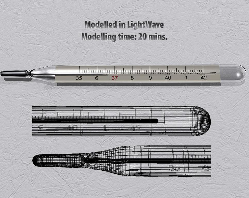 Clinical thermometer. speed modelling challenge   033   it s getting hot in here  show