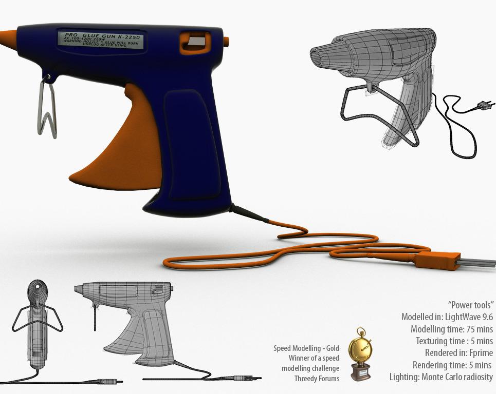 Glue gun.  speed modelling challenge   050   power tools  award show