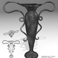 Vase metall. speed modelling challenge   032   flower vase  cover