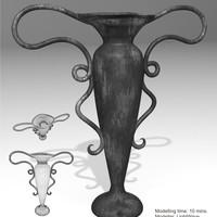 Vase metall. speed modelling challenge   032   flower vase  cover