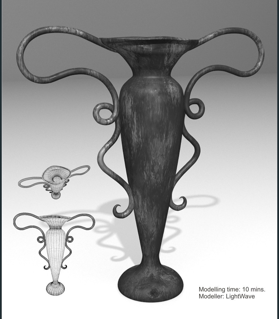 Vase metall. speed modelling challenge   032   flower vase  show