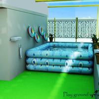 Play ground with tub cover