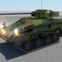 Wiesel tank  lowpoly cover