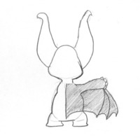 Bat bat back cover