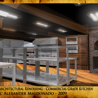 3d architectural rendering   commercial grade kitchen cover