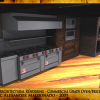 3d architectural rendering   commercial grade oven brick oven cover