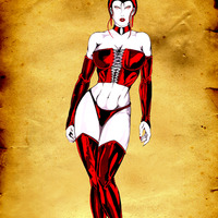 Character design   countess selene action pose cover