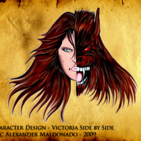 Character design   victoria side by side cover
