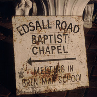 Edsall road chapel sign cover