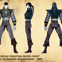 Nicholas sebastian model sheet cover