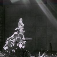 Sunlit statue cover
