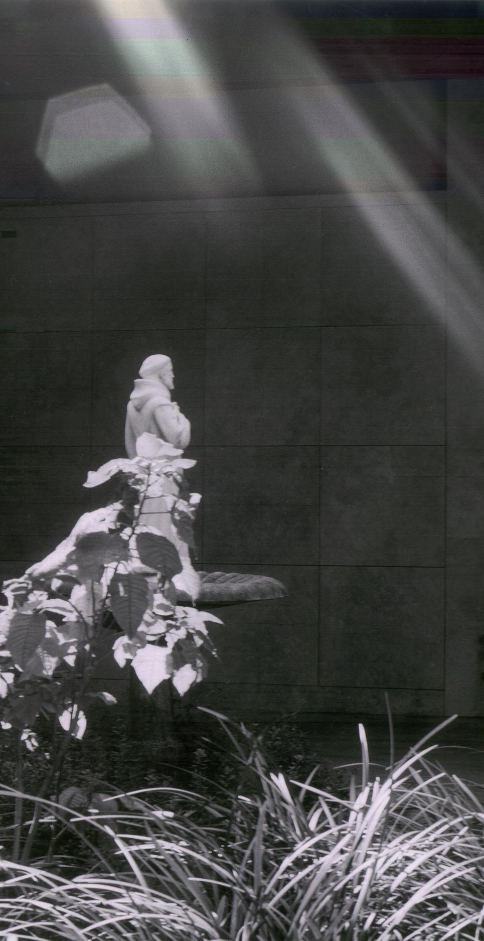 Sunlit statue show