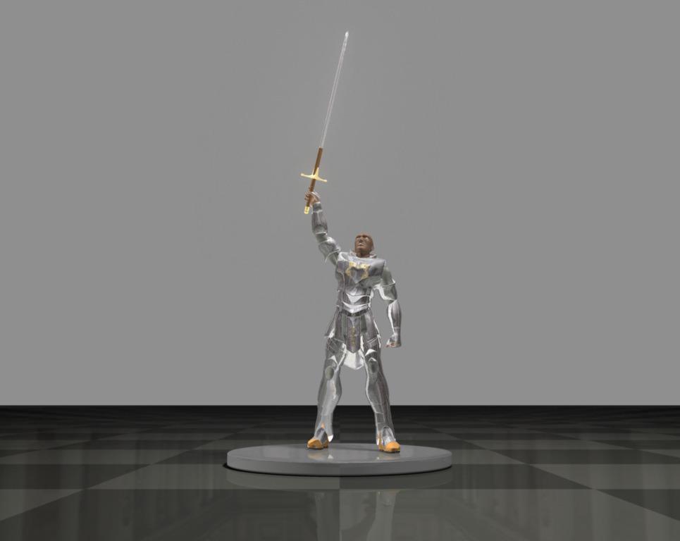 Astoreth levantando la espada show