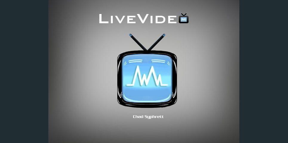 Livevideo logo concept   tv waveform on grey by chad syphrett show