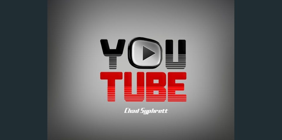 Youtube logo concept   play button on grey bg by chad syphrett show