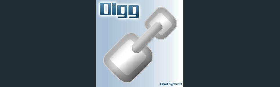 Digg logo concept   link shovel by chad syphrett show