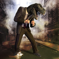 Dino in  alley cover