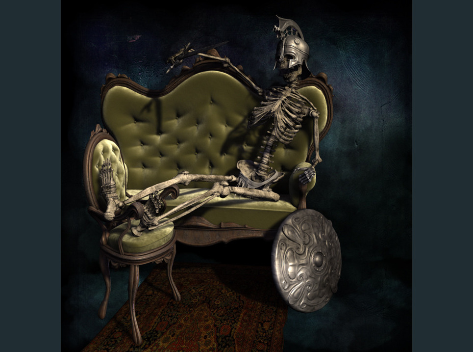 Relaxed skeleton show