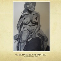 012 achromatic figure painting cover