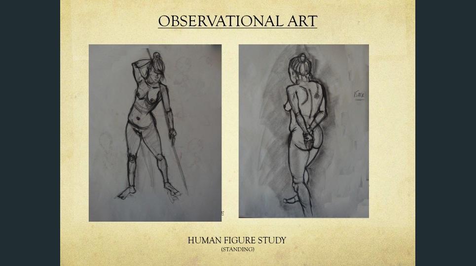 3 human figure standing  show