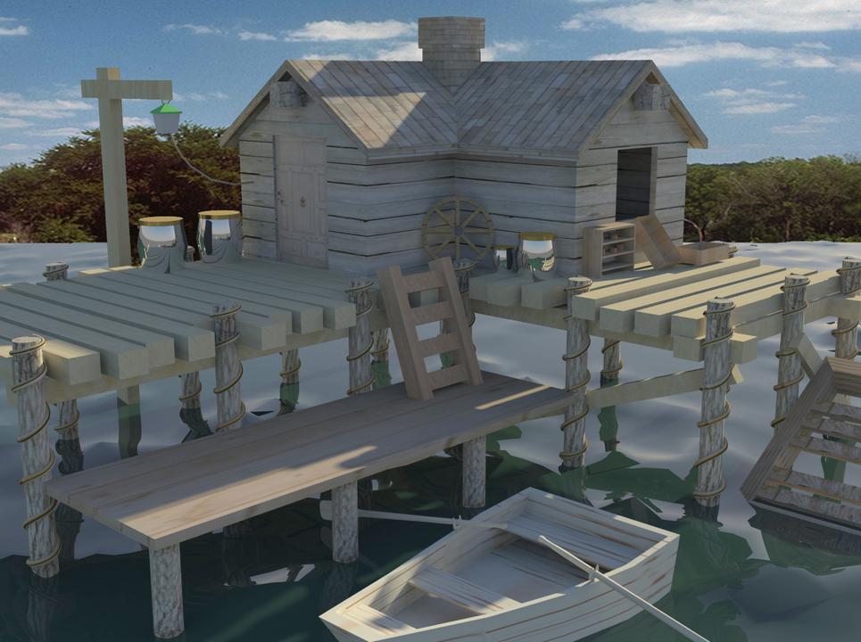 Wood house copy show
