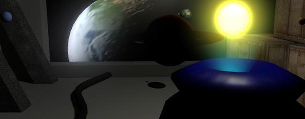 1st maya project   solar system 3  wide