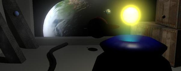 1st maya project   solar system 4  wide