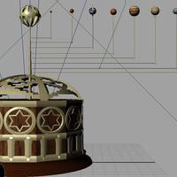 3rd maya project   mechanical orrery   victorian steampunk 25  cover