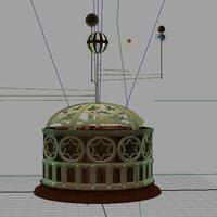 3rd maya project   mechanical orrery   victorian steampunk 32  cover