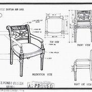 Egyptian armchair small
