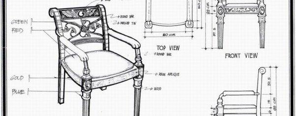 Egyptian armchair wide