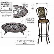 Lamkanay coffee table high chair small