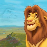 Simba cartoon wallpaper cover