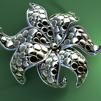 Metal flower cover