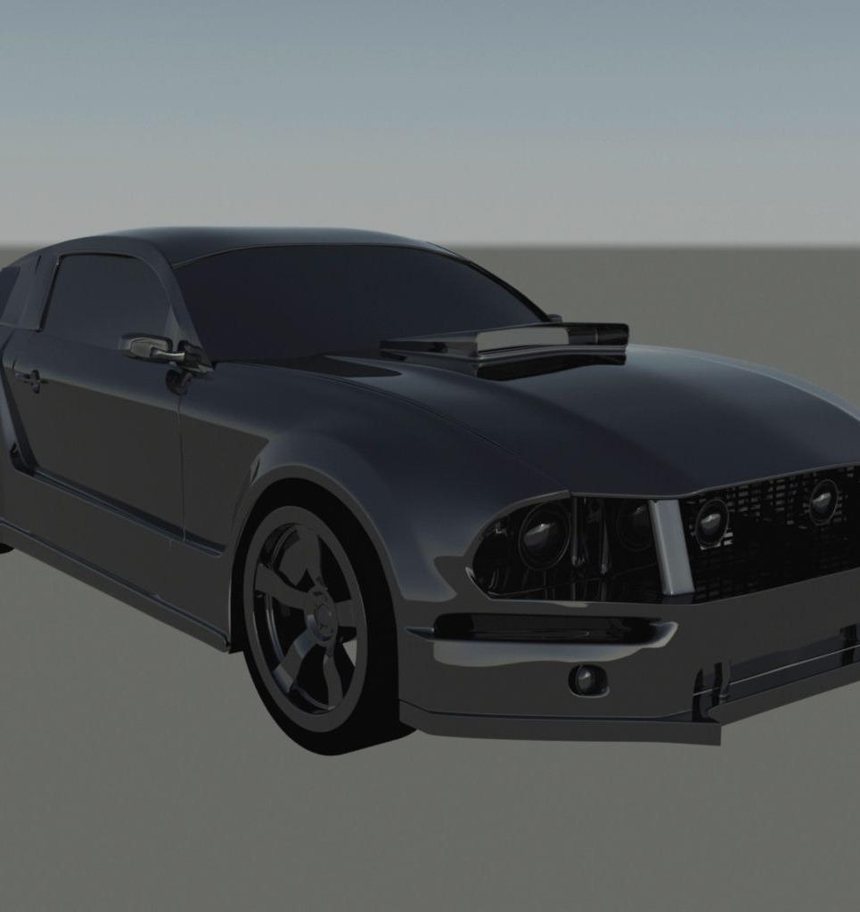 Mustang render 3 show