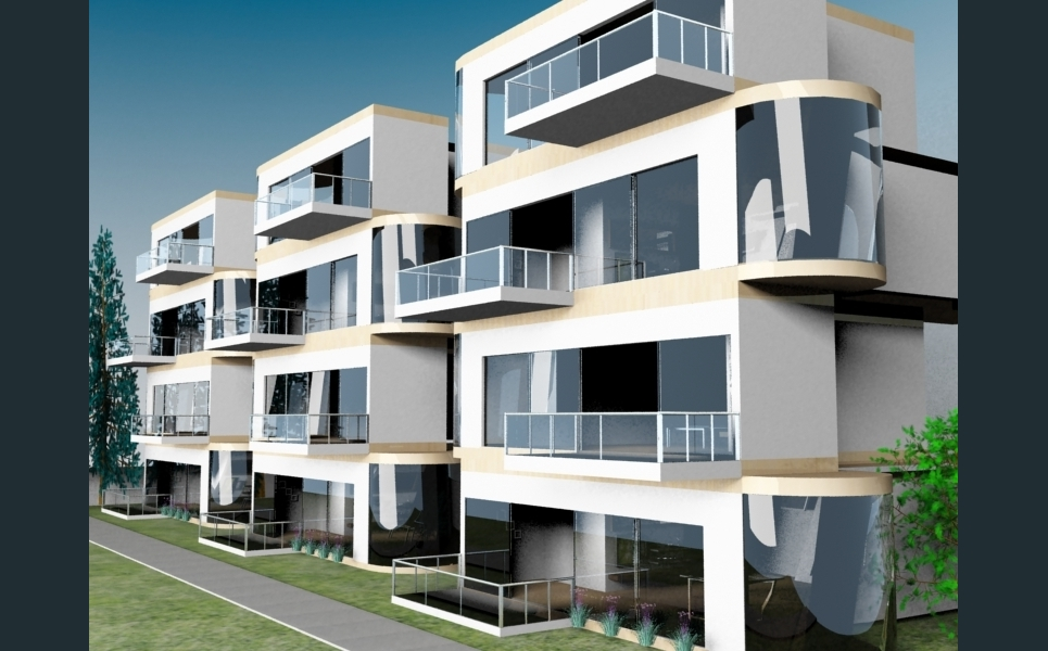 Apartment exterior show